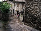Steep Medieval Walkway, Assisi, Umbria, Italy Photographic Print by Marilyn Parver