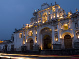 Cathedral in Square, Antigua, Guatemala Photographic Print by Bill Bachmann