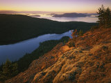 Sunrise from Mt. Constitution, Moran State Park, Orcas Island, Washington, USA Photographic Print by Charles Gurche