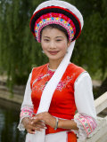Bai Minority Woman in Traditional Ethnic Costume, China Photographic Print by Charles Crust