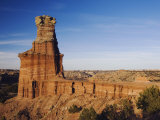 Lighthouse at Sunset, Palo Duro Canyon State Park, Canyon, Panhandle, Texas, USA Photographic Print by Rolf Nussbaumer