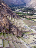 Terraces of Inca Fortress, Ollantaytambo, Sacred Valley of the Incas, Peru Photographic Print by Diane Johnson