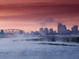 City Skyline along Ohio River, Louisville, Kentucky, USA Photographic Print by Walter Bibikow