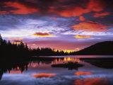 Sunrise on Reflection Lake, Mt. Rainier National Park, Washington, USA Photographic Print by Charles Gurche