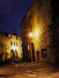 Medieval Street at Night, Radda, Chianti, Siena, Tuscany, Italy Photographic Print by Marilyn Parver