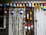Lobster Buoys, Rockport Harbor, Cape Ann, Massachusetts, USA Photographic Print by Walter Bibikow