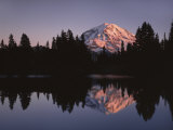 Mt. Rainier at sunset from Eunice Lake, Mt. Rainier National Park, Washington, USA Photographic Print by Charles Gurche