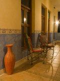 Outside Chair, Hotel Mediomundo, Merida, Yucatan, Mexico Photographic Print by Julie Eggers