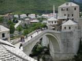 The Old Bridge Stari Most, Mostar, Bosnia-Hercegovia Photographic Print by Walter Bibikow