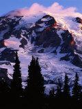 Mt. Rainier at sunrise, Mt. Rainier National Park, Washington, USA Photographic Print by Charles Gurche
