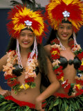 Native Dancers, Huahine, Tahiti, French Polynesia, Oceania Photographic Print by Bill Bachmann