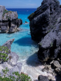 Beach on South Coast, Bermuda, Caribbean Photographic Print by Alan Klehr