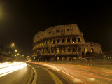 Colosseum Ruins at Night, Rome, Italy Photographic Print by Bill Bachmann