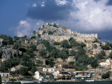 Harbor and Ruins of Fortress, Kas, Turquoise Coast, Turkey Photographic Print by David Herbig