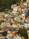 Town Buildings along Northern Valley, Guanajuato State, Mexico Photographic Print by Walter Bibikow