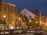 M Street Northwest At Dusk, Georgetown, Washington D.C., USA Photographic Print by John & Lisa Merrill