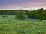 Early morning in a field at Highland Farm in York, Maine, USA Fotografie-Druck von Jerry & Marcy Monkman