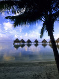 Over Water Bungalows, Rangiroa, French Polynesia Photographic Print by Michael DeFreitas