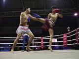 Thai Kickboxing Demonstration, Chiang Mai, Thailand Photographic Print by Adam Jones
