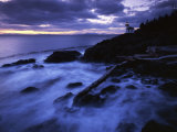 Lime Liln Lighthouse at dusk, Lime Liln State Park, San Juan Island, Washington, USA Photographic Print by Charles Gurche