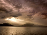 God Rays Shine Through Over Hood Canal, Seabeck, Washington, USA Photographic Print by Don Paulson
