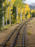 Pikes Peak Cog Railway, Manitou Springs, Colorado Springs, Colorado, USA Photographic Print by Cindy Miller Hopkins