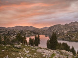 Sunset over Island Lake, Bridger National Forest, Wyoming, USA Photographic Print by Don Paulson