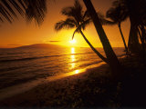 Colorful Sunset in a Tropical Paradise, Maui Hawaii, USA Fotografisk trykk av Jerry Ginsberg