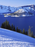 Winter, Crater Lake National Park, Oregon, USA Photographic Print by Charles Gurche