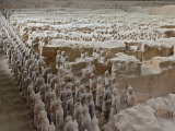 Museum of Qin Terra Cotta Warriors and Horses, Xian, Lintong County, Shaanxi Province, China Photographic Print by Adam Jones