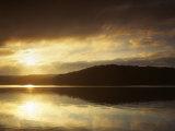 Lake at Sunrise, Lake of the Ozarks, Missouri, USA Photographic Print by Charles Gurche