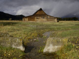 Old Barn in Antelope Flats, Grand Teton National Park, Wyoming, USA Photographic Print by Rolf Nussbaumer