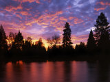 Deschutes River at sunrise, Bend, Oregon, USA Photographic Print by Charles Gurche