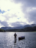 Hauling a Canoe, Katmai National Park, Southcentral Alaska Photographic Print by Steve Kazlowski