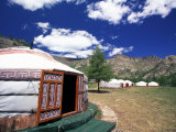 Yurts, Ulan Battar, Mongolia Photographic Print by Gavriel Jecan