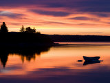 Skiff at Sunrise in Eggemoggin Reach, Little Deer Isle, Maine, USA Photographic Print by Jerry & Marcy Monkman