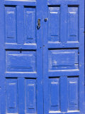 Blue Residential Door, Cusco, Peru Photographic Print by Diane Johnson