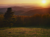 Sunset from Hazeltop Ridge, Shenandoah National Park, Virginia, USA Photographic Print by Charles Gurche