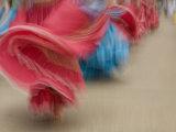 Cuenca. Swirling Skirt of Female Dancers, Cuenca, Ecuador Photographic Print by John & Lisa Merrill