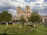 Plaza De Armas, Church of La Compania, Cusco, Peru Photographic Print by Diane Johnson