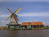 Windmill, Zaanse Schans, Holland, Netherlands Photographic Print by Adam Jones
