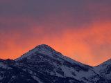 Sunset Teton Range, Grand Teton National Park, Wyoming, USA Photographic Print by Rolf Nussbaumer