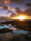 Sunset from Napili Point, Maui, Hawaii, USA Photographic Print by Charles Gurche
