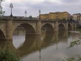 Bridge over Rio Ebro in Logrono, La Rioja, Spain Photographic Print by Janis Miglavs