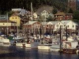 Marina, Ketchikan, Alaska, USA Photographic Print by David Herbig