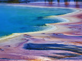 Pattern in Bacterial Mat, Midway Geyser Basin, Yellowstone National Park, Wyoming, USA Photographic Print by Adam Jones