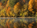 Fall color along the New River, Appalachian Mountains, Jefferson National Forest, Virginia, USA Photographic Print by Charles Gurche