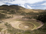Amphitheater-Like Terraces of Moray, Sacred Valley of The Inca, Peru Photographic Print by Diane Johnson