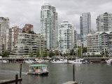 Skyline from Granville Island, Vancouver, British Columbia, Canada Photographic Print by David Herbig