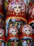 Wooden Matryoshka Nesting Dolls, Moscow, Russia Fotografie-Druck von Cindy Miller Hopkins